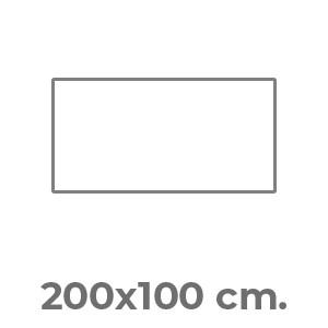 200x100 cm.