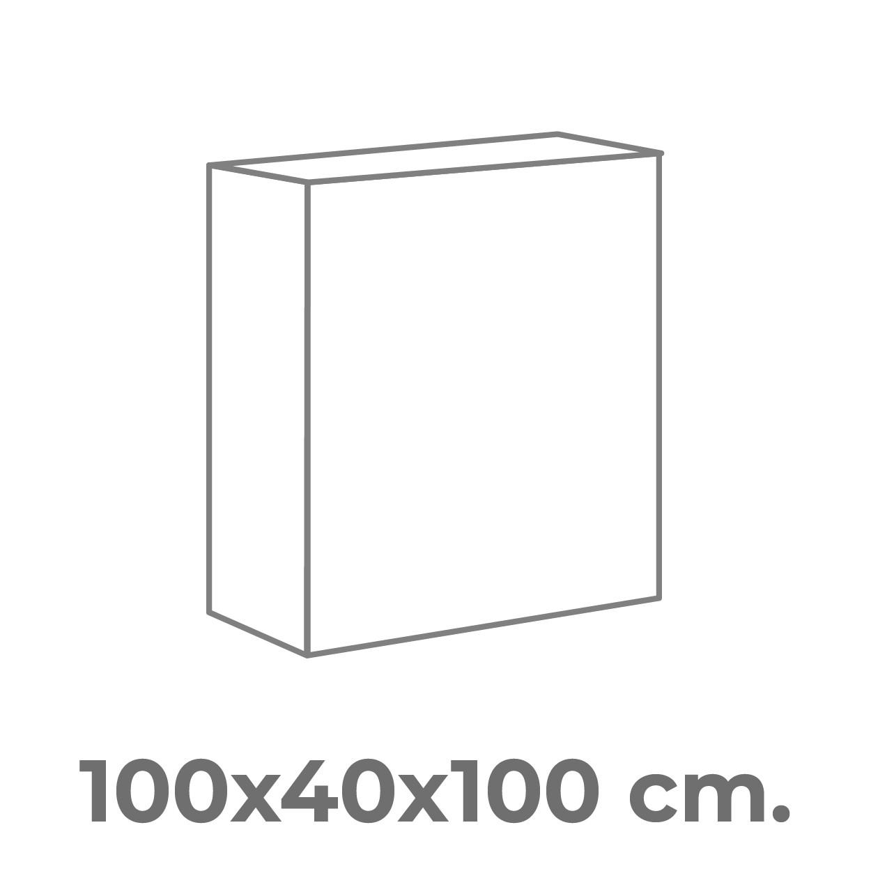 100x100x40 cm.