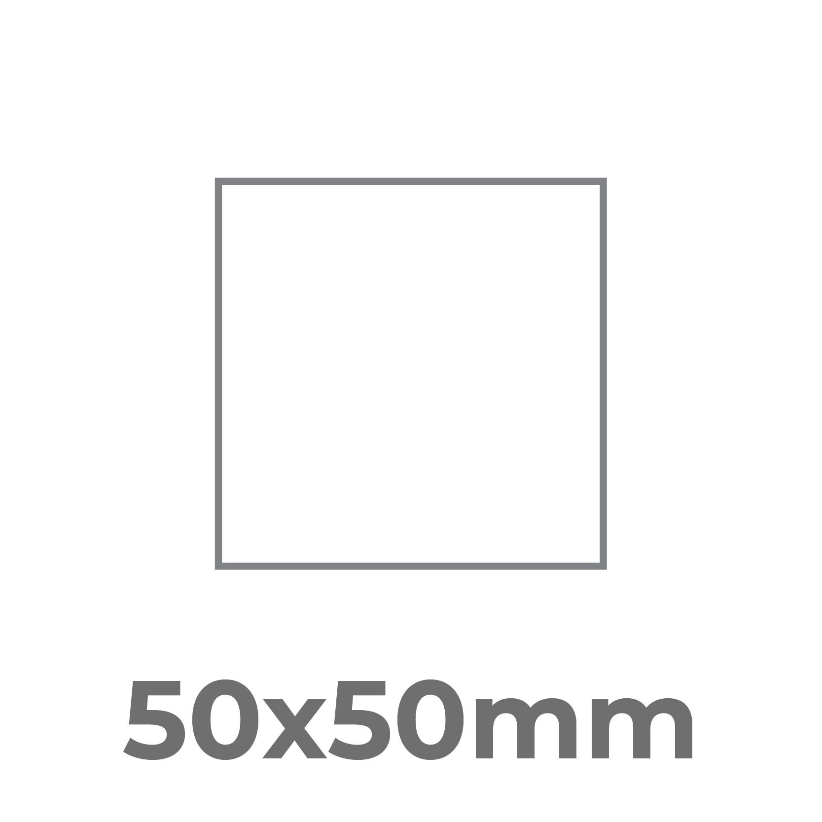 50x50 mm.