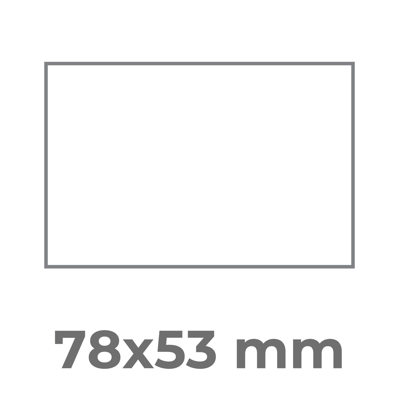 78x53 mm.