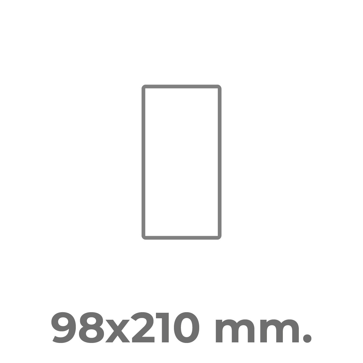 98x210 mm.