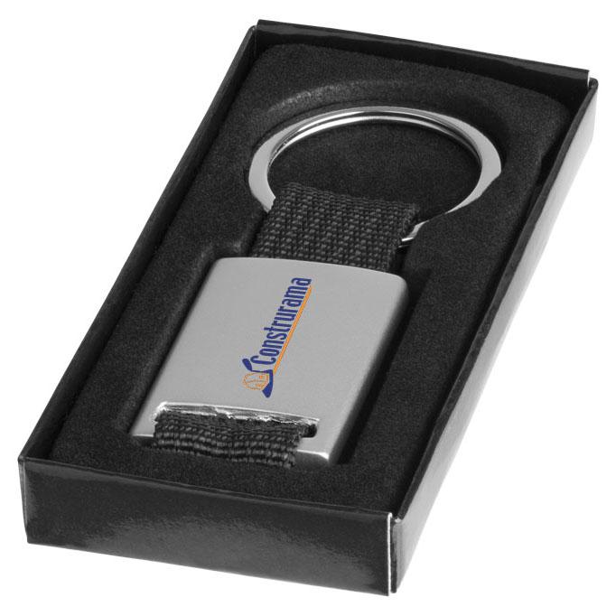 ALVARO - Portachiavi in alluminio con astuccio