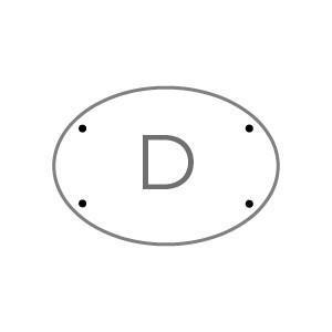 Targhe 30x21 TARGA D Plexi trasp. 5 mm