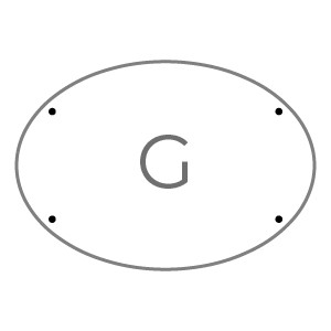 Targhe 43x30 TARGA G Plexi trasp. 5 mm