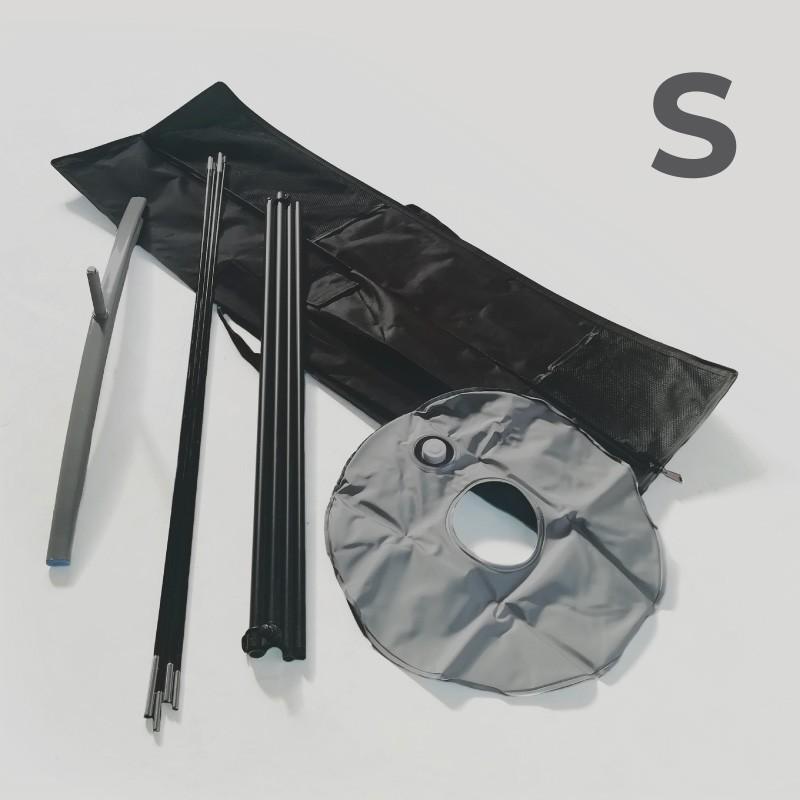 Accessori - Kit bandiera S (asta, base a croce, ciambella, borsa) Singoli