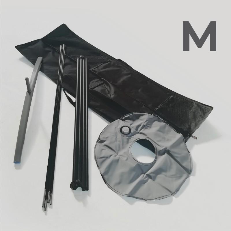 Accessori - Kit bandiera M (asta, base a croce, ciambella, borsa) Singoli