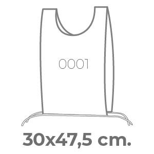 pettorine Smanicato 30 x 47,5 con laccetti
