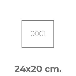 pettorine Pettorale Maxi 20 x 24