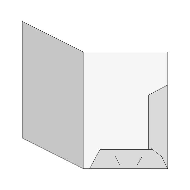 cartella Cartella A4 - 2 lembi (modello A con porta biglietto da visita)