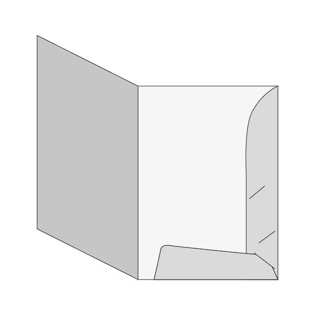 cartella Cartella A4 - 2 lembi (modello B con porta biglietto da visita)
