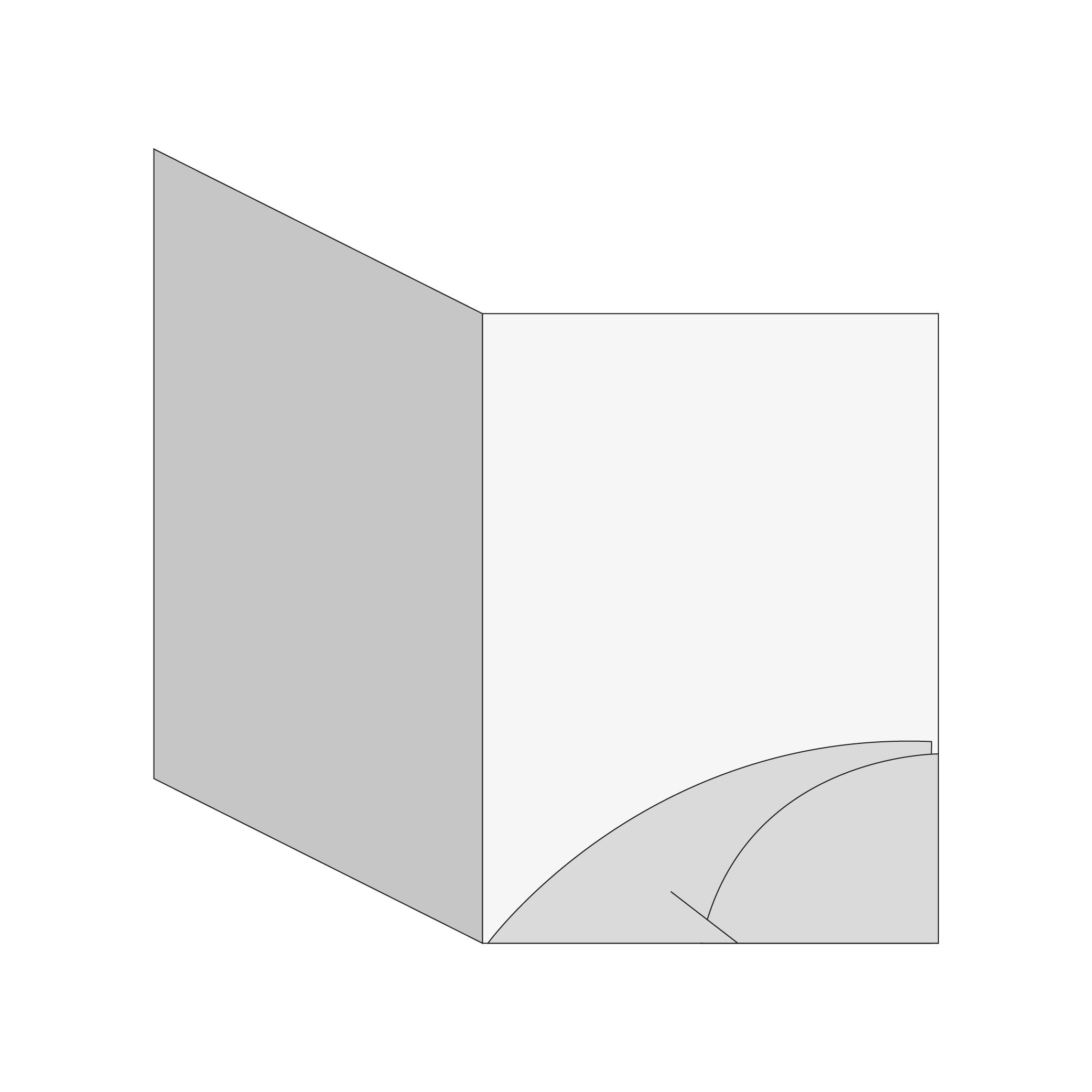 cartella Cartella A4 - 2 lembi (modello C)