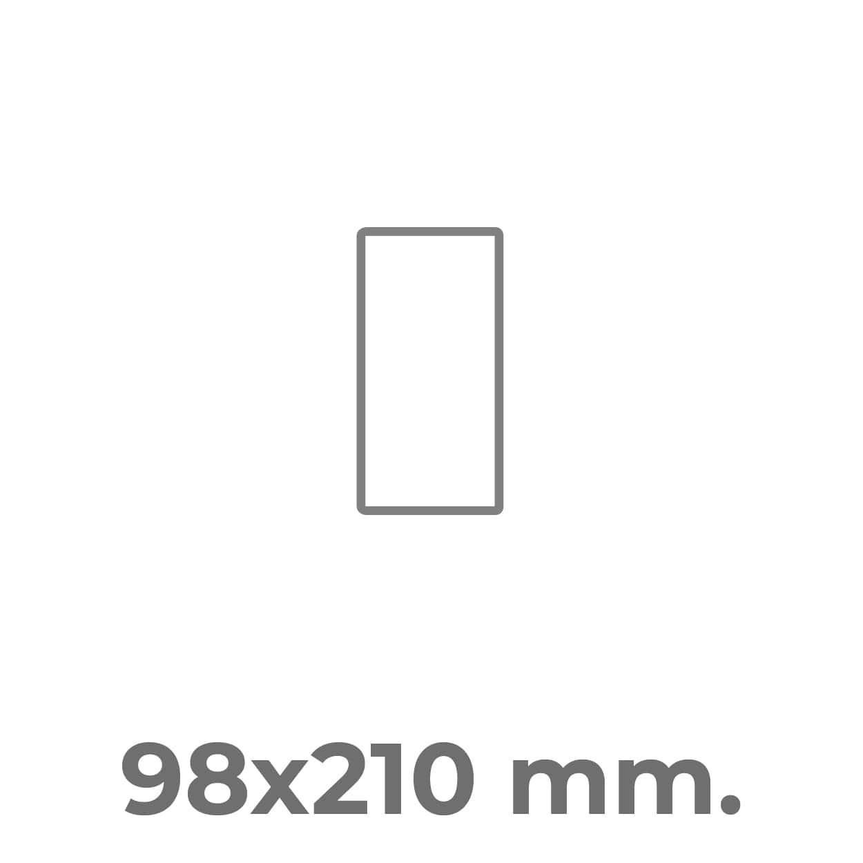 etichette squadrate 98x210