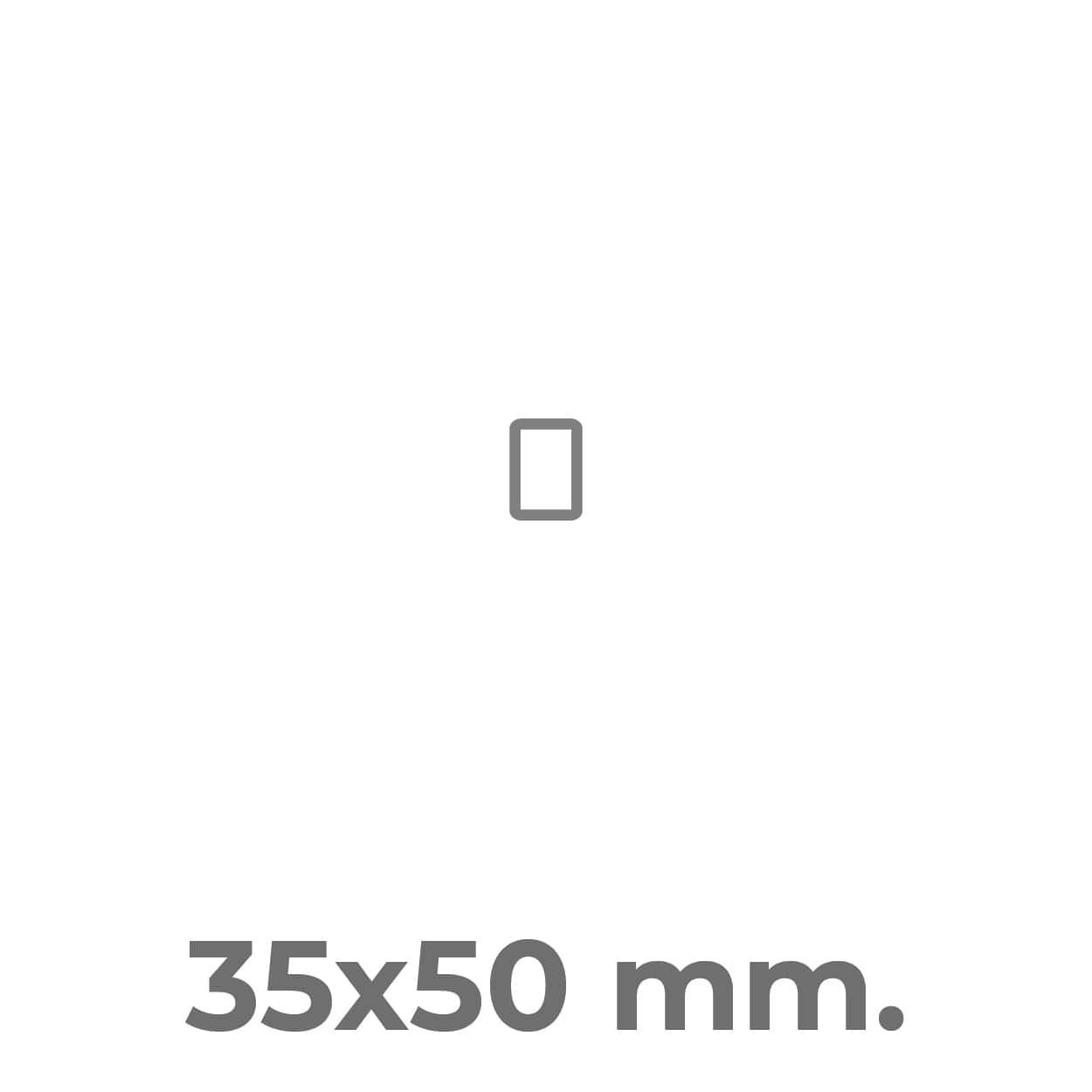 etichette squadrate 3,5 x 5 cm