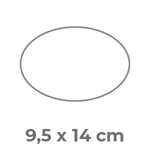Fustella Ovale 9,5 x 14 cm Patinata stampa fronte e retro a colori 300
