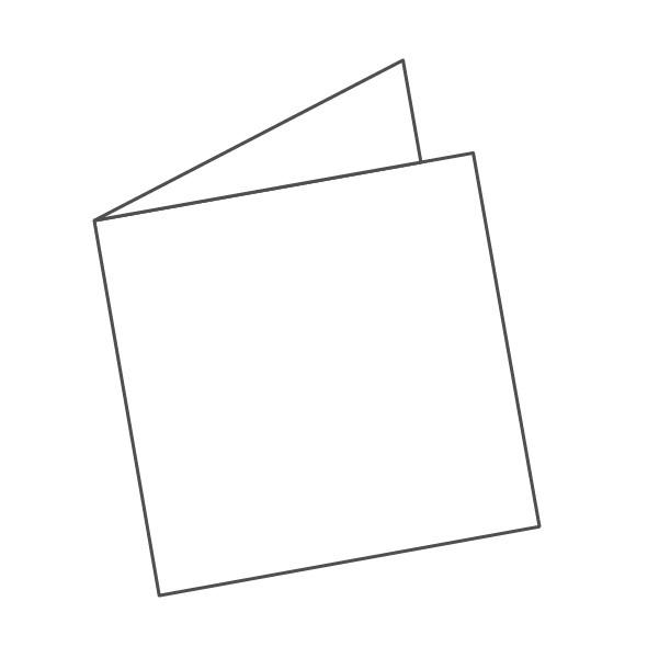 pieghevole 2 ante - 4 facciate 148x148 296x148 mm semplice
