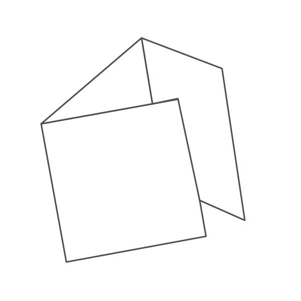 pieghevole 3 ante - 6 facciate 148x148 444x148 mm portafoglio