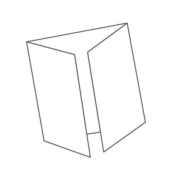 pieghevole 3 ante - 6 facciate 148x148 296x148 mm finestra