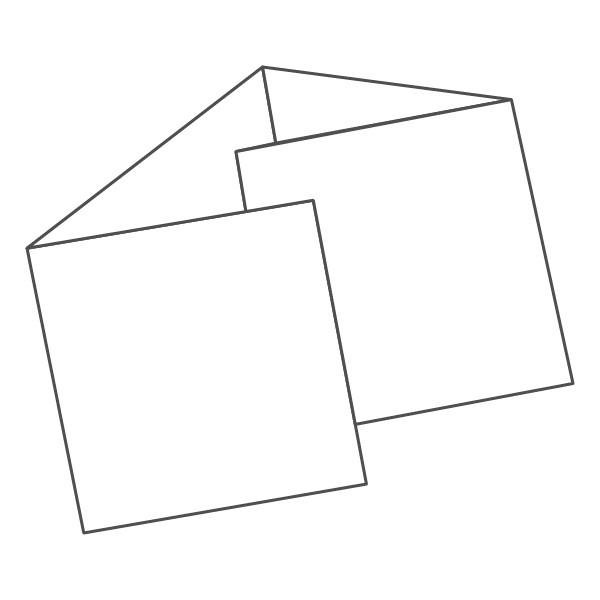 pieghevole 4 ante - 8 facciate 148x148 592x148 mm portafoglio