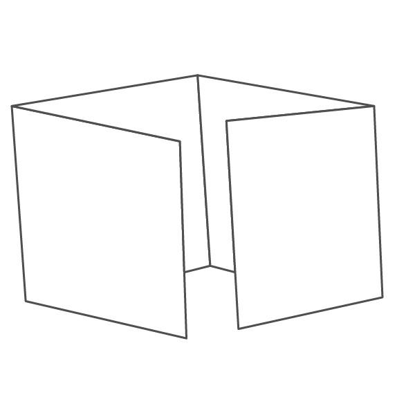 pieghevole 4 ante - 8 facciate 148x148 588x148 mm piega su piega