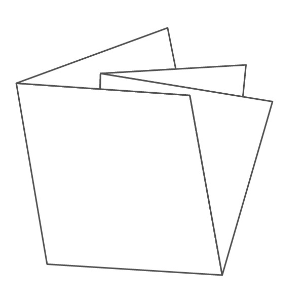 pieghevole 4 ante - 8 facciate 148x148 296x296 mm croce