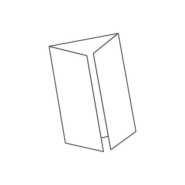 pieghevole 3 ante - 6 facciate A4 420x297 mm finestra