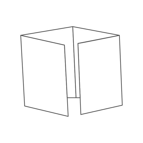 pieghevole 4 ante - 8 facciate A4 840x297 mm piega su piega