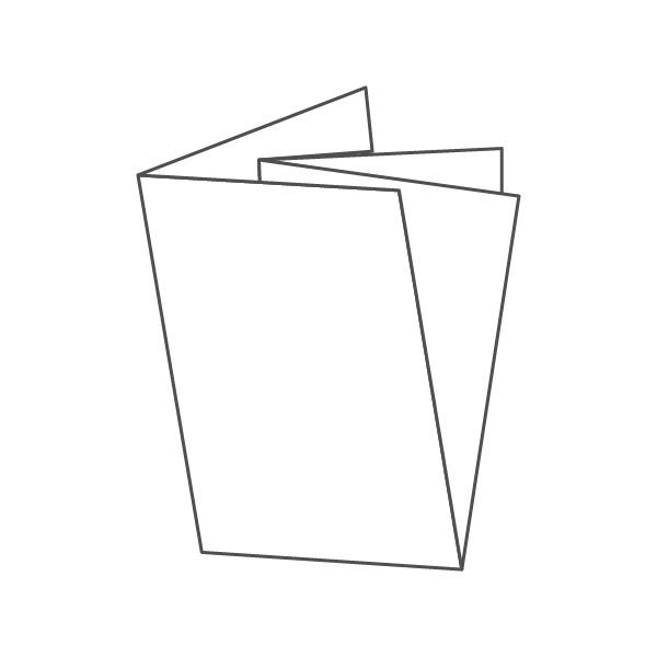 pieghevole 4 ante - 8 facciate A4 594x420 mm croce