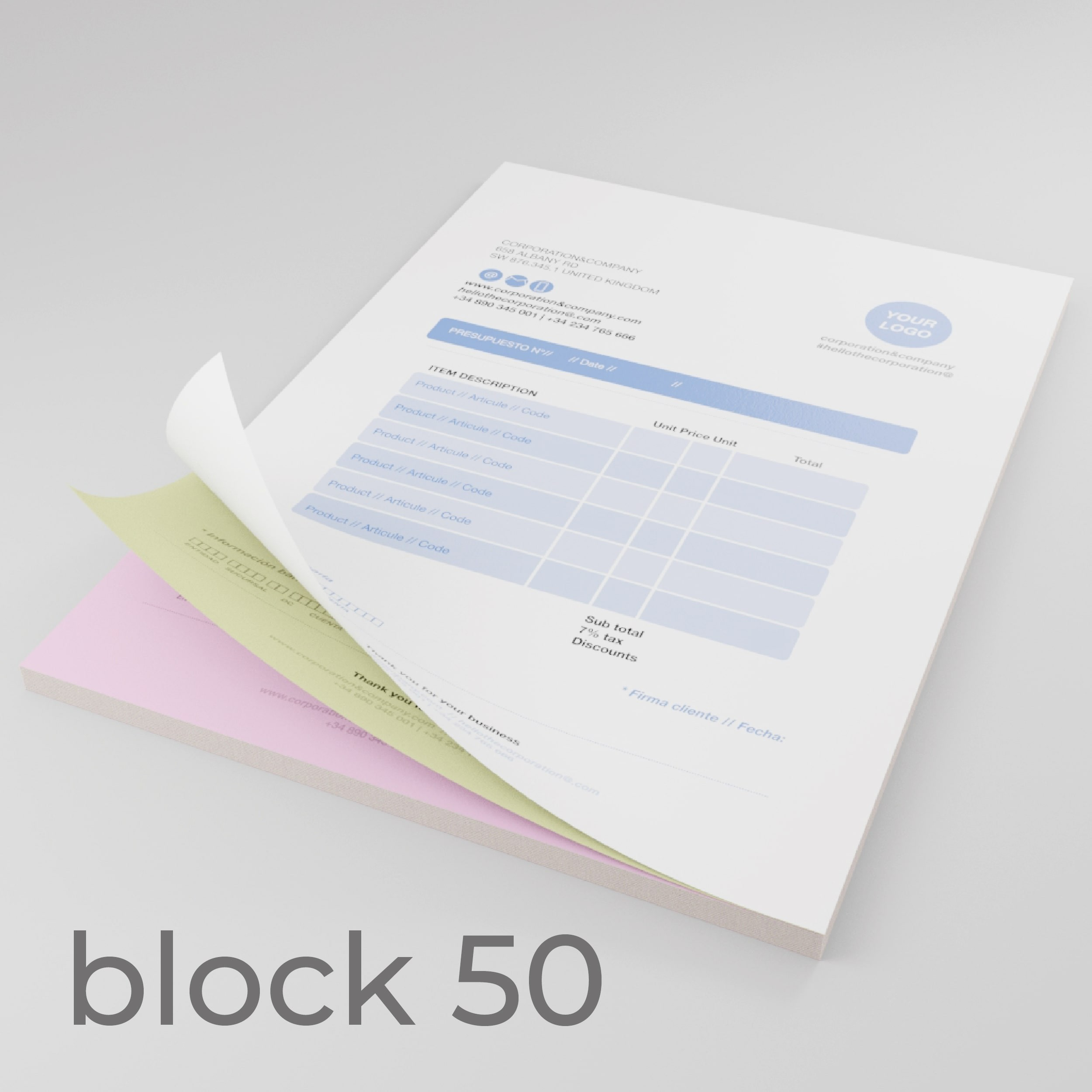 moduli autoricalcanti A6 copiativa 80gr In blocchi da 50 fascicoli