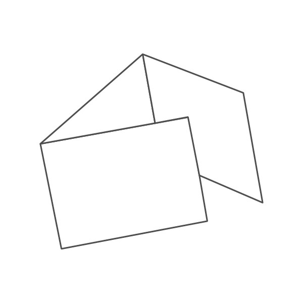 pieghevole 3 ante - 6 facciate A5 orizzontale 630x148 mm portafoglio