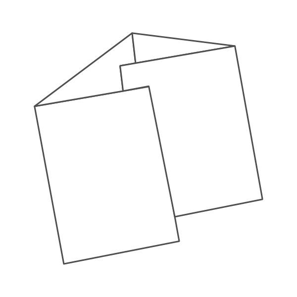 pieghevole 4 ante - 8 facciate A5 592x210 mm portafoglio