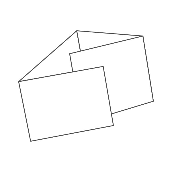 pieghevole 4 ante - 8 facciate A5 orizzontale 834x148 mm portafoglio