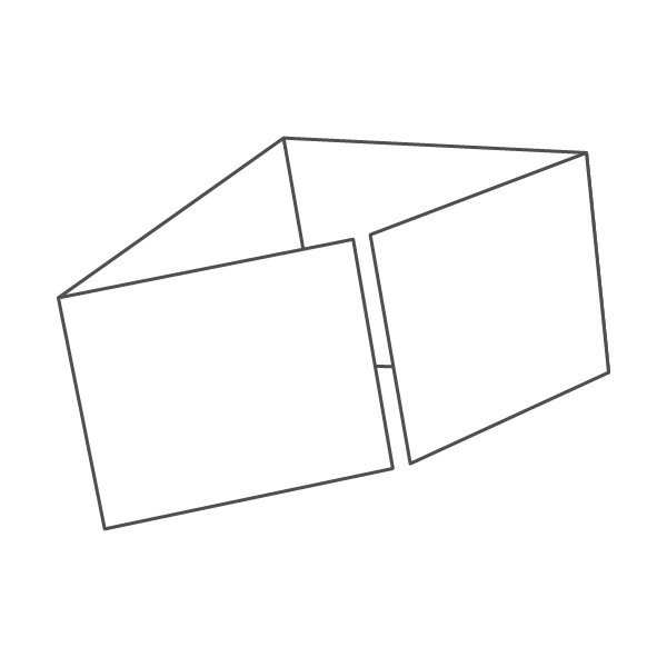pieghevole 4 ante - 8 facciate A5 orizzontale 836x148 mm piega su piega