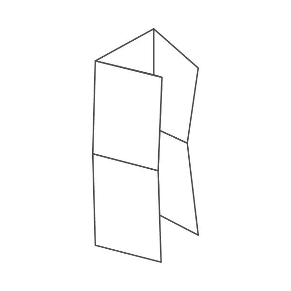 pieghevole 6 ante - 12 facciate A5 444x424 mm portafoglio+croce