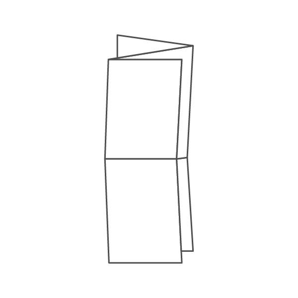 pieghevole 6 ante - 12 facciate A5 424x444 mm fisarmonica+croce
