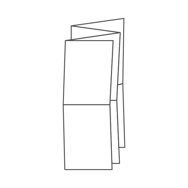 pieghevole 8 ante - 16 facciate A5 592x420 mm fisarmonica+croce