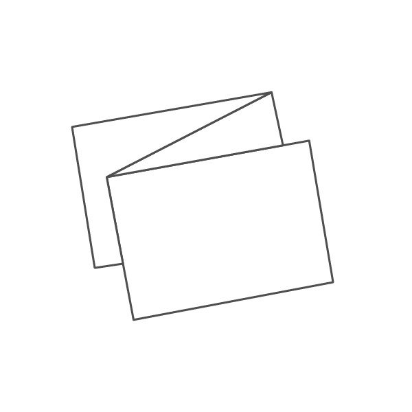 pieghevole 3 ante - 6 facciate A6 orizzontale 444x105 mm fisarmonica