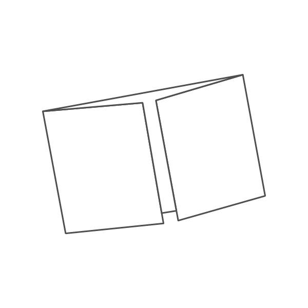 pieghevole 3 ante - 6 facciate A6 orizzontale 296x105 mm finestra