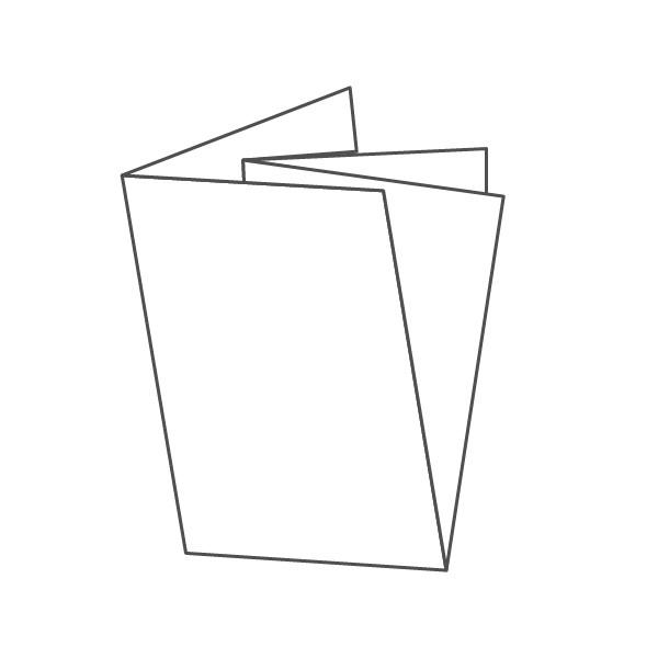 pieghevole 4 ante - 8 facciate A6 210x296 mm croce