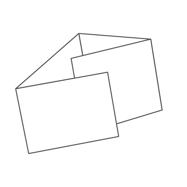 pieghevole 4 ante - 8 facciate A6 orizzontale 592x105 mm portafoglio