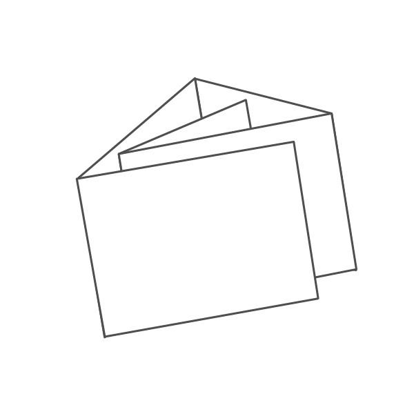 pieghevole 5 ante - 10 facciate A6 orizzontale 734x105 mm portafoglio