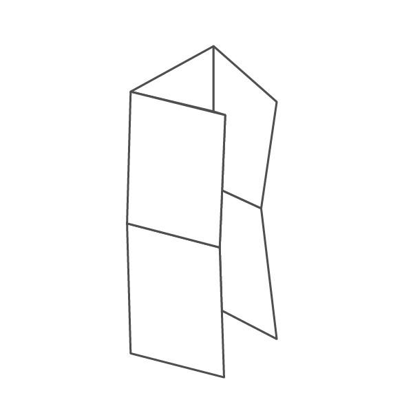 pieghevole 6 ante - 12 facciate A6 314x296 mm portafoglio+croce