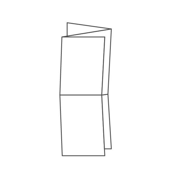 pieghevole 6 ante - 12 facciate A6 315x296 mm fisarmonica+croce