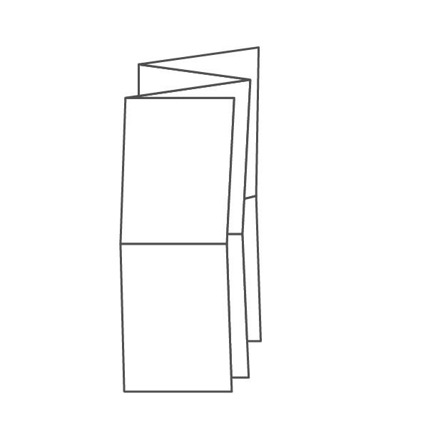 pieghevole 8 ante - 16 facciate A6 420x296 mm fisarmonica+croce