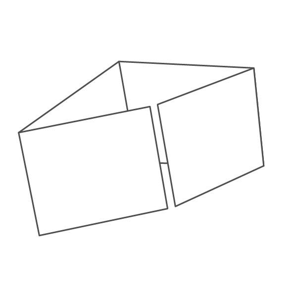 pieghevole 4 ante - 8 facciate A7 orizzontale 416x74 mm piega su piega