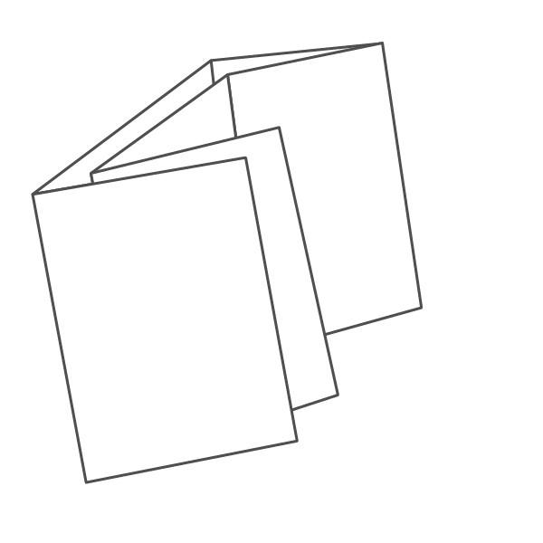 pieghevole 6 ante - 12 facciate A7 420x105 mm doppio portafoglio