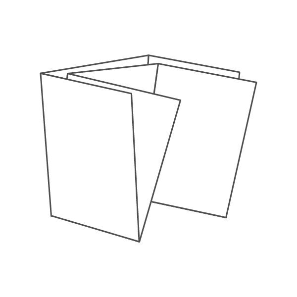 pieghevole 6 ante - 12 facciate A7 220x210 mm portafoglio+croce