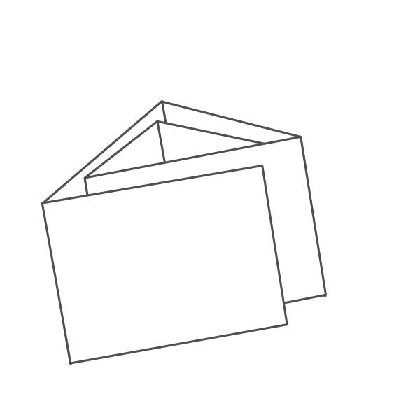pieghevole 6 ante - 12 facciate A7 orizzontale 624x74 mm portafoglio