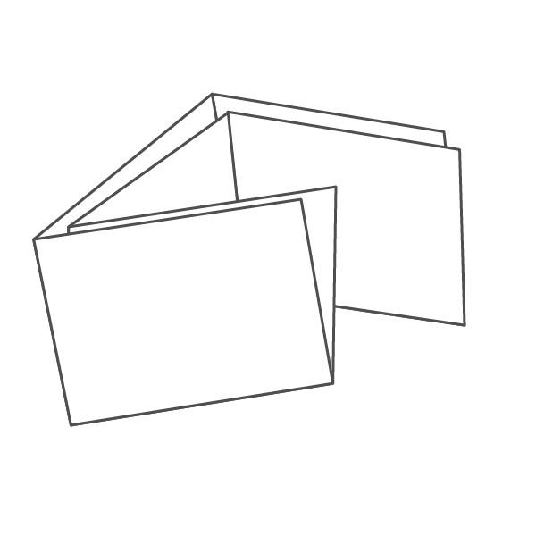 pieghevole 6 ante - 12 facciate A7 orizzontale 313x148 mm portafoglio+croce