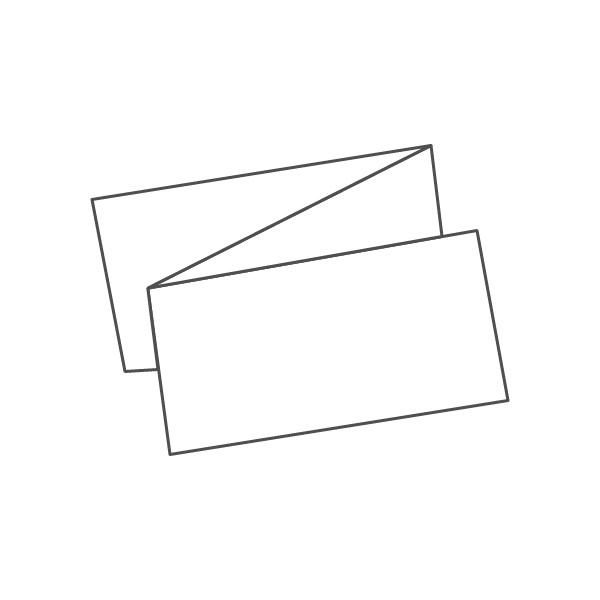 pieghevole 3 ante - 6 facciate A5L orizzontale 891x105 mm fisarmonica