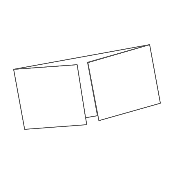 pieghevole 3 ante - 6 facciate A5L orizzontale 593x105 mm finestra